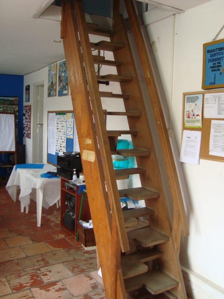 Réplica da escada que estava na casa do Santos Dumont
