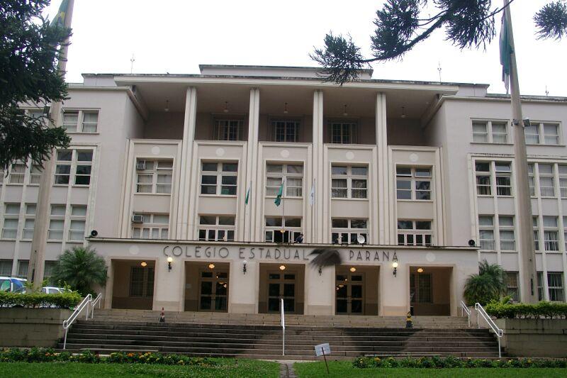 Fachada do Colégio Estadual do Paraná
