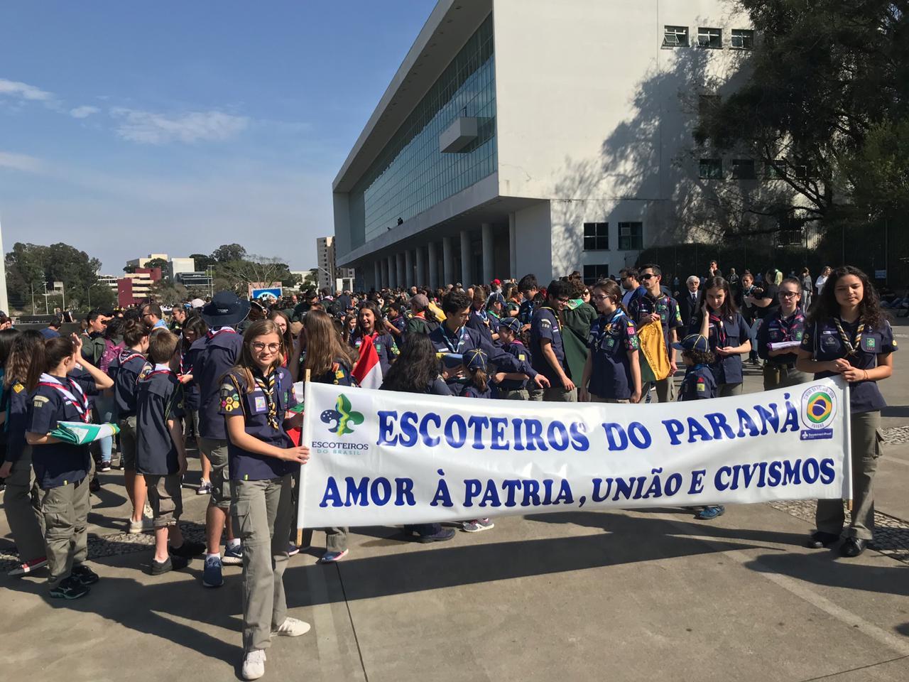 GESD participa das comemorações cívicas no Centro Cívico e na Fazendinha